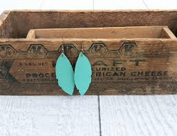 turquoise leather earrings using cricut jpg easy diy