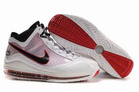 lebron red shoes. nike air max lebron vii shoes white red with black
