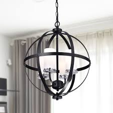 modern black chandeliers for high ceilings modern chandelier lighting globe 4 lights iron ceiling