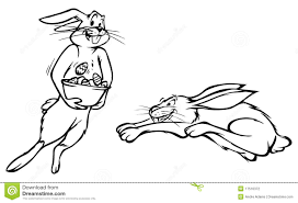 outline of bunny easter bunny rabbit outlines stock vector illustration of
