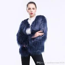 2019 top fashion long hair faux fur jacket women pink black fur coat imitation fur jackets party short coats fourrure from sunshineavenue36518