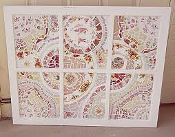custom handmade mosaic wall hanging window pane