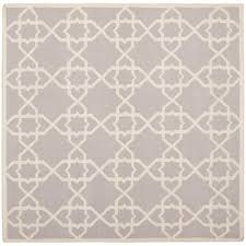 safavieh dhurries grey ivory 6 ft x 6 ft square area rug