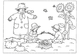 Kleurplaat Herfst Animaatjesnl