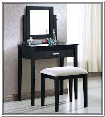 black makeup vanity table