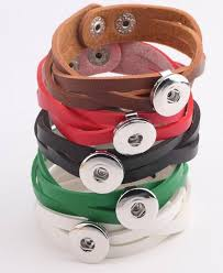 20pcs lot mix 5colors braided woven leather snap bracelets fit 18mm ginger snap ons jewelry free