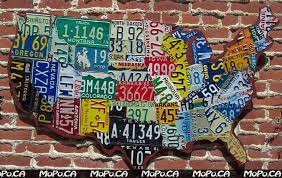 license plate map of the usa on gray reclaimed wood vintage intended for license plate map on license plate map wall art with license plate map wall art wall art ideas