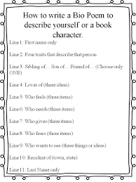 book character if they are more fortable with that for biography unit bio poem template 3rd grade google search