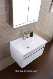 White Bathroom Cabinet Waterproof Bathroom Vanitywall Mounted Make Up Stainless Steel