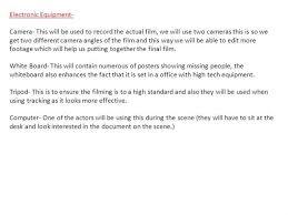 Standard Office Equipment List Equipment List Authorstream