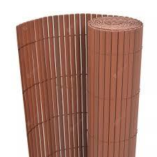 <b>DoubleSided Garden Fence PVC</b> 150x300 cm Brown Sale, Price ...