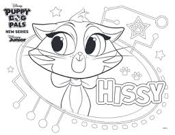 Free coloring pages to download and print. Hissy Puppy Dog Pals Coloring Page Novocom Top