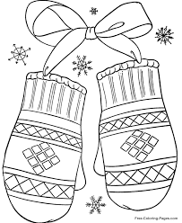 Winter coloring page for kids. Winter Coloring Pages Winter Mittens 12 Coloring Pages Winter Printable Christmas Coloring Pages Preschool Coloring Pages
