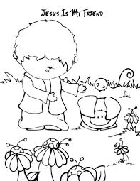 Small Picture Jesus Is My Friend Coloring Page aecostnet aecostnet