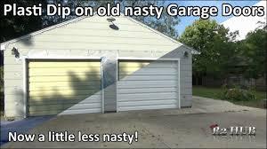 plasti dipping my old nasty garage doors