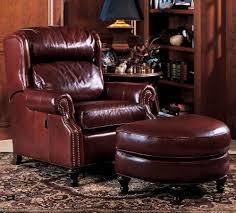 932 leather tilt back chair ottoman