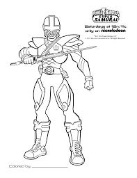 Coloriage De Power Rangers Samurai En Ligne L L L L L L L L