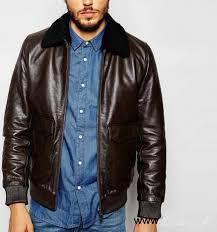 details about men s leather jacket real lambskin leather er biker slim fit vintage coat