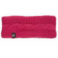 speakers pink. kitsound audio knitted bow headband with speakers (pink) pink l