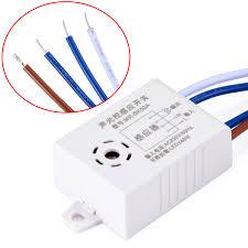 Sound Control Light Switch Automatic Sound Light Sensor Switch 220v 38x27x16mm For On