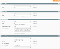 xml sitemap pro configuration