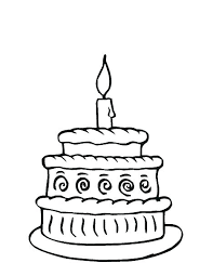 Coloring Pages Birthday Cake Bahamasecoforumcom