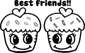 Printable Cupcake Coloring Pages For Kids Of Cupcakes Kawaii