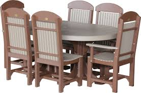 oval table set 2 with 4