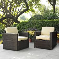 Attractive Resin Wicker Patio Chairs Crosley Furniture Palm Harbor 2