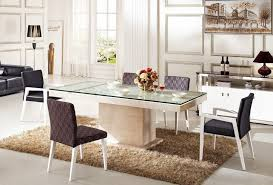 extendable glass top dining room tables