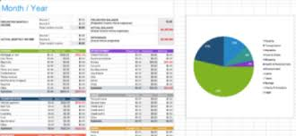 Personal Monthly Budget Spreadsheet Personal Monthly Budget Template Emily Lightly