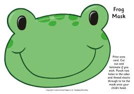 Frog Mask Free Printable Baby Shower Frog Mask Animal Masks
