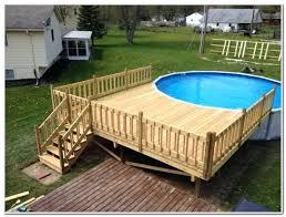 simple pool deck plans. Plain Deck Simple Above Ground Pool Deck Ideas Inside Plans E
