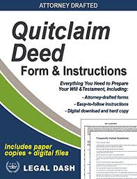 Quit Claim Deed Form Magnificent Quitclaim Deed Form With Instructions Includes Paper Forms