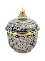 Benjarong porcelain jar, 'Lotus Bud' by NOVICA at Gilt   милые ...