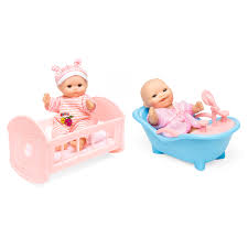 best choice s set of 6 mini baby dolls toy w cradle high chair