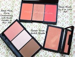parison post sleek face form fair blush by 3 lace and rose gold blush