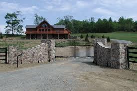 Stone Entry Gate Designs Flagstone Driveway Entrance Gates Entrance Entry Ways