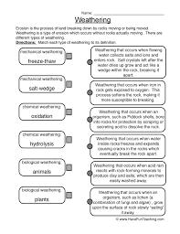 Weathering Worksheet 1