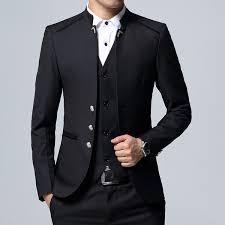 2019 Custom <b>4XL Mens Suits Autumn</b> Blazers Suit Vest And Suit ...