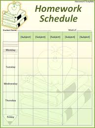 Homework Calendar Templates Adorable Homework Sheet Template Ramautoco