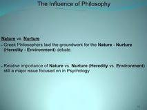 nature vs nurture nature versus nurture essays