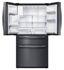 samsung black stainless steel. Samsung Black Stainless Steel French Door Refrigerator (24.7 Cu. Ft.) - RF25HMEDBSG/AA N