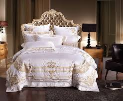 100 egyptian cotton white luxury bedding sets king queen size embroidery bed set palace royal bed duvet cover bed sheet set