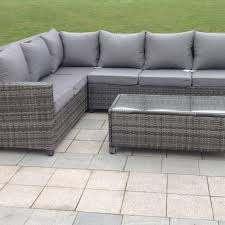 rattan outdoor corner sofa set garden