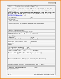 12 New Collection Workplace Incident Report Form Template Free