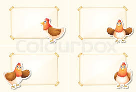 chicken border clip art. Exellent Art Four Border Template With Chickens Illustration  Stock Vector Colourbox For Chicken Border Clip Art E