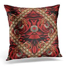 Red And Gold Decorative Pillows