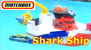 matchbox cars shark ship on a mission water toy bath toy pool adventure kid friendly toys