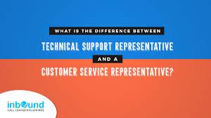 Technical Support Representative Vs Customer Service